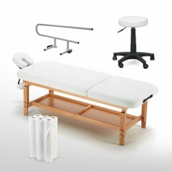 Kit de massage table tabouret chaise porte rouleau et rouleaux papier DELUXE-SET