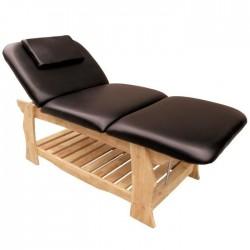 Table de massage fixe en bois , spa, salon de massage cosmétique