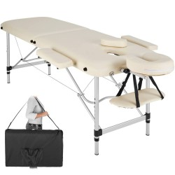 Table de massage Pliante 2 Zones Aluminium Portable + Housse