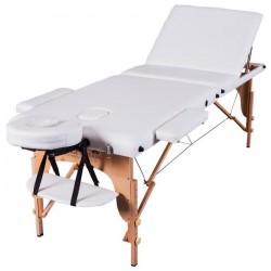 Table de Massage Pliante - Massage Imperial Chalfont Pro Luxe - à 3 sections avec panneaux légers Reiki en Blanc Ivoire