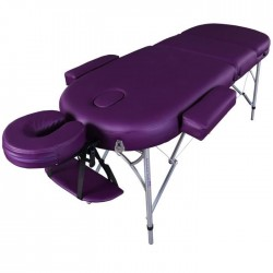 Table de Massage Légere Ovale Reiki Pro Luxe en Aluminum - Table à 3 Zones 10Kg